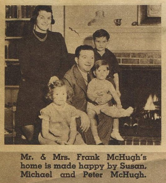Frank McHugh and family
