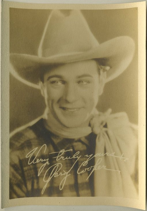 Gary Cooper 1920s Fan Photo