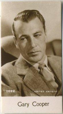 Gary Cooper 1940 De Beukelaer Trading Card