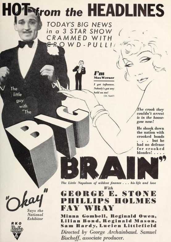 George E Stone in The Big Brain