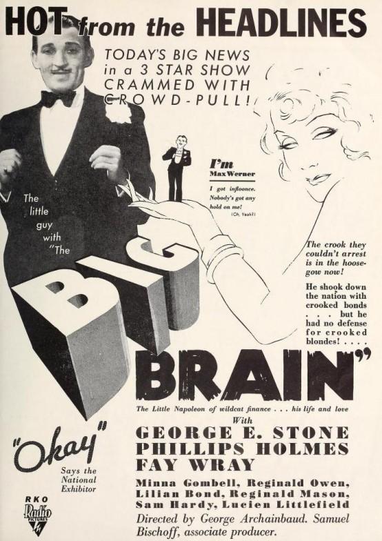 George E Stone in The Big Brain