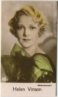 Helen Vinson 1935 Bridgewater Trading Card