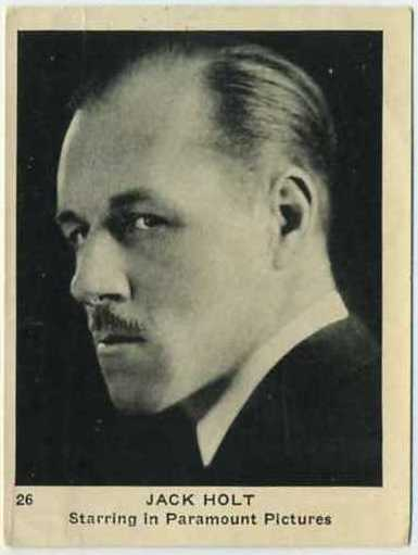 Jack Holt T83-1A tobacco card