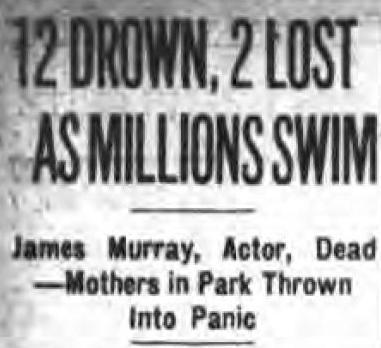 James Murray drowns headline