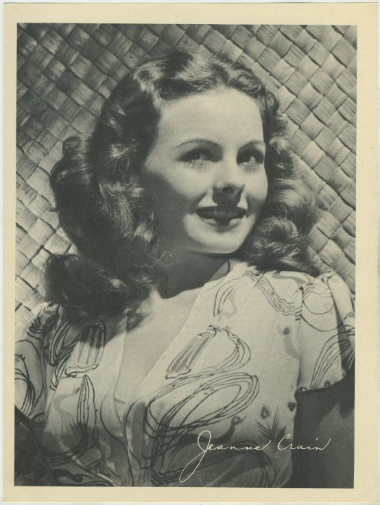 Jeanne Crain 1946 Motion Picture Magazine premium photo