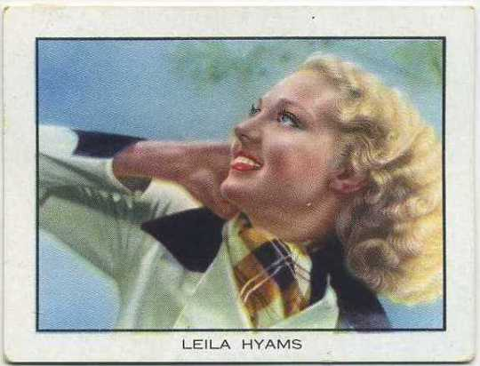 Leila Hyams 1933 BAT World Famous Cinema Artistes