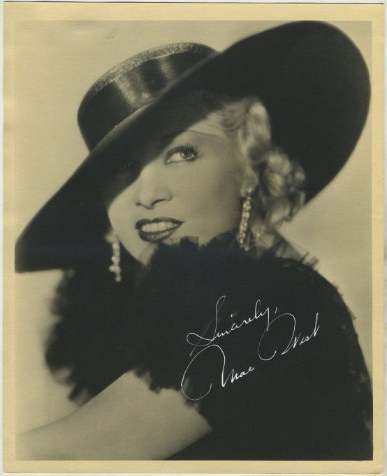 Mae West 1930s paper premium photo