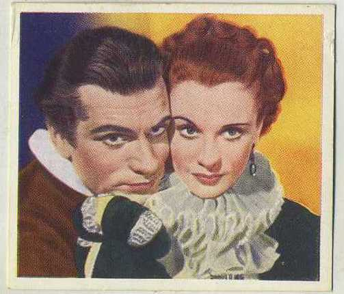 Laurence Olivier and Vivien Leigh 1939 Godfrey Phillips Famous Love Scenes tobacco card