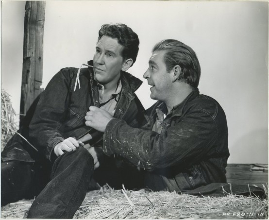 Burgess Meredith and Lon Chaney Jr Of Mice and Men