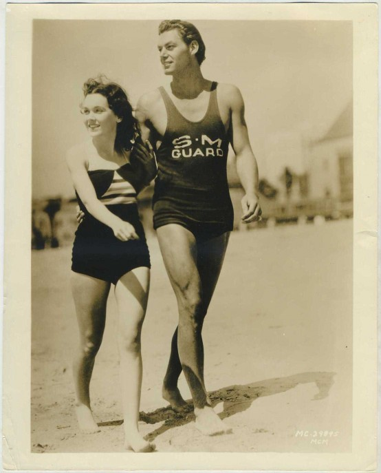 Maureen O'Sullivan and Johnny Weissmuller 1932 MGM Promotional Photo