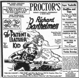 The Patent Leather Kid ad found in the Schenectady Gazette May 14 1928 page 13