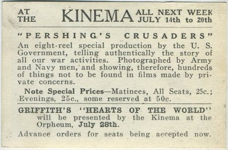 Blackjack Pershing movie card promoting Pershings Crusaders