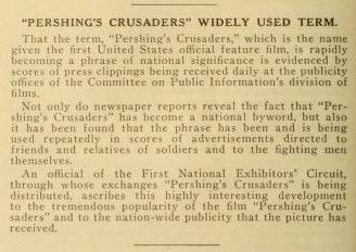 Pershings Crusaders Moving Picture World 13 July 1918