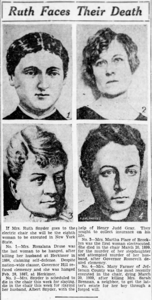 Ruth Snyder and other executed women