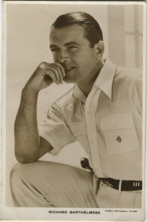Richard Barthelmess 1930s Postcard