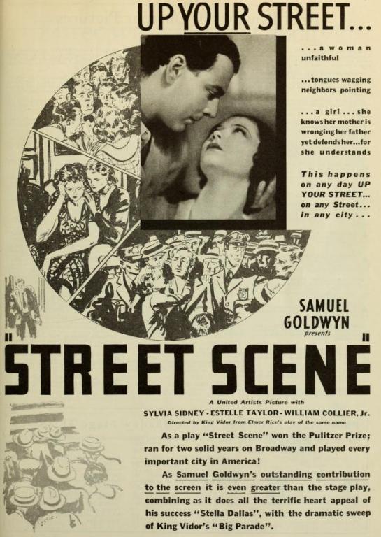 Street Scene 1931 ad