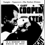 The Wedding Night 1935 newspaper ad