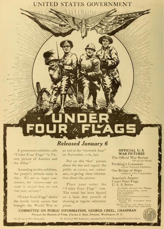 Under Four Flags 1919 ad