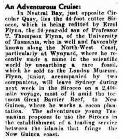 Advocate (Burnie, Tas. : 1890 - 1954), Monday 17 February 1930, page 5.