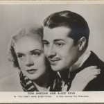 Alice Faye and Don Ameche 1937 Postcard