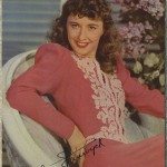 Barbara Stanwyck 1941 World Explorer Postcard