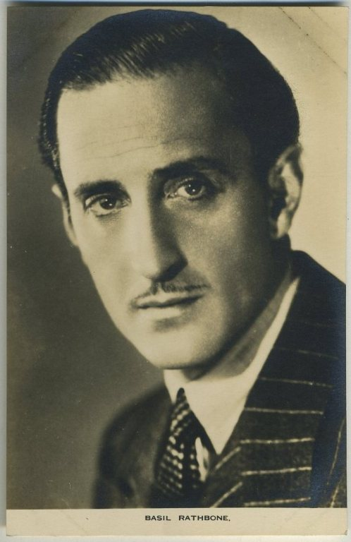 Basil Rathbone 1930s Film Weekly Postcard