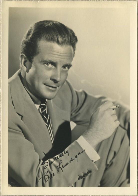 William Lundigan 1940s Fan Photo