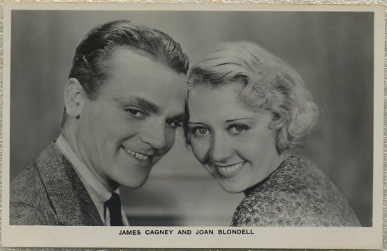 James Cagney and Joan Blondell Picturegoer Postcard