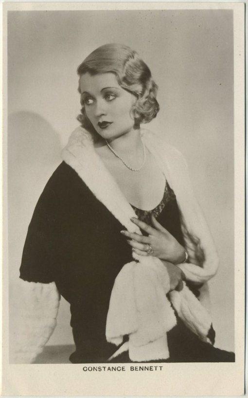 Constance Bennett 1930s Picturegoer Postcard