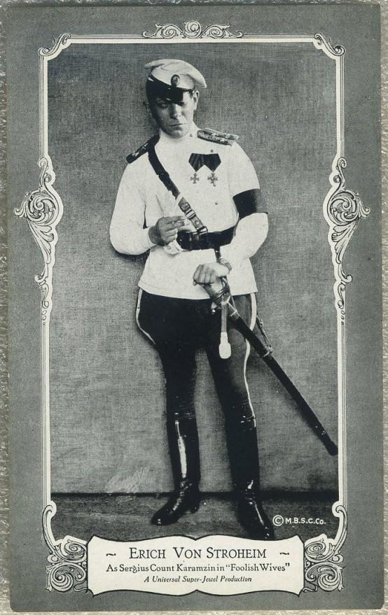 Erich von Stroheim 1922 Max B Sheffer Card Co Postcard