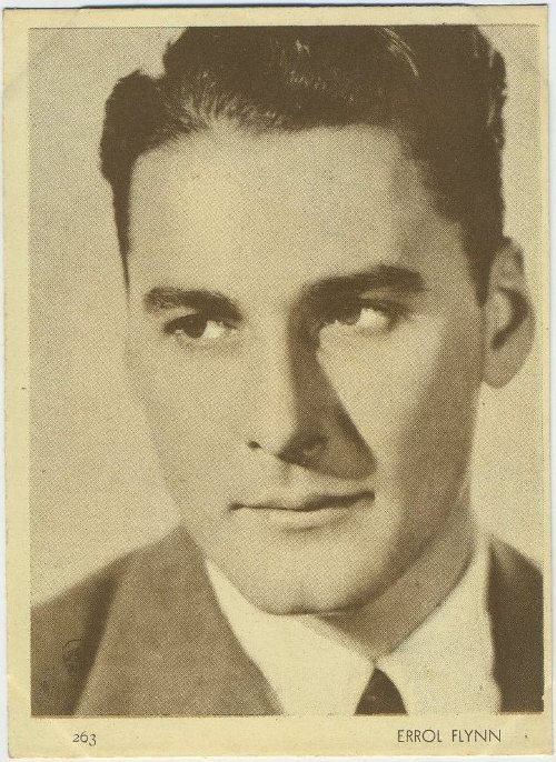 Errol Flynn 1930s Aguila Chocolates Trading Card
