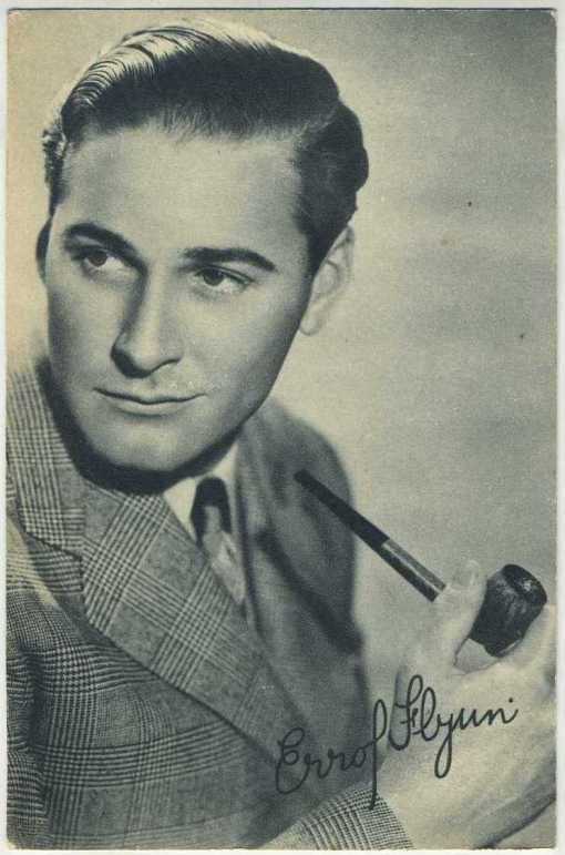 Errol Flynn 1930s Boys Cinema Postcard