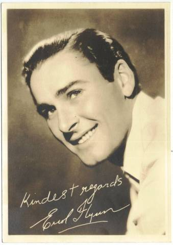Errol Flynn 1930s Fan Photo