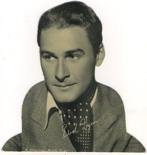 Errol Flynn 1930s Quaker Oats Standee