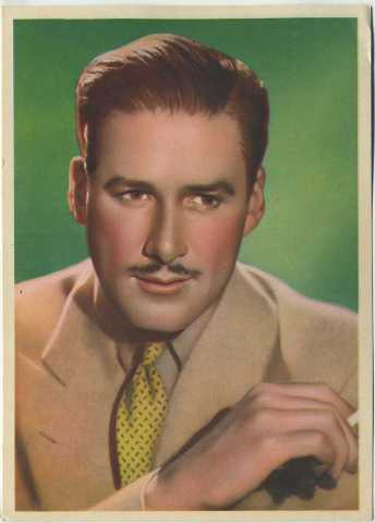 Errol Flynn 1936 Nestles Stars of the Silver Screen