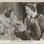 Flora Robson and Errol Flynn Postcard