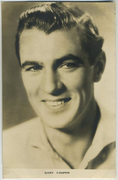 Gary Cooper Film Weekly Postcard
