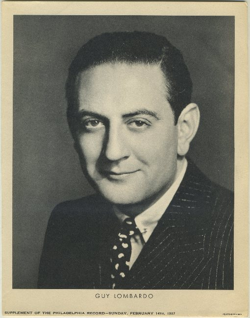 Guy Lombardo 1937 Philadelphia Record Supplement Photo