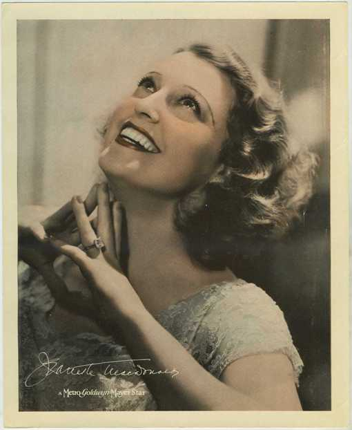 Jeanette MacDonald 1930s paper premium photo