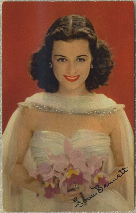 Joan Bennett 1942 World Explorer Postcard
