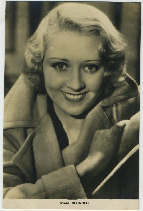 Joan Blondell 1930s Film Weekly Postcard