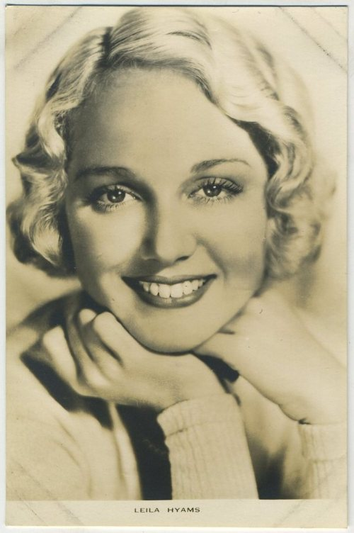 Leila Hyams 1930s Film Weekly Postcard