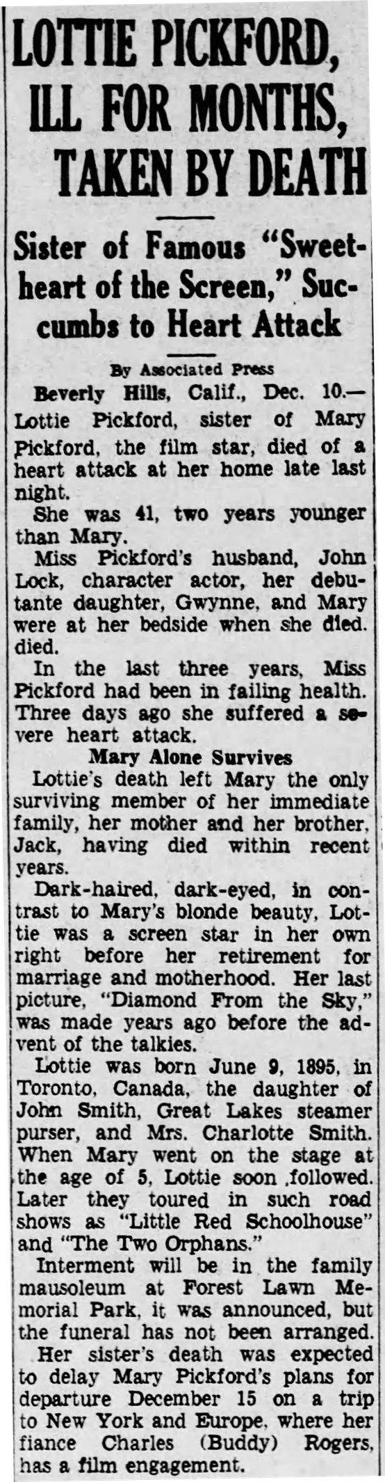 Source: Harrisburg Telegraph, December 10, 1936, page 13.