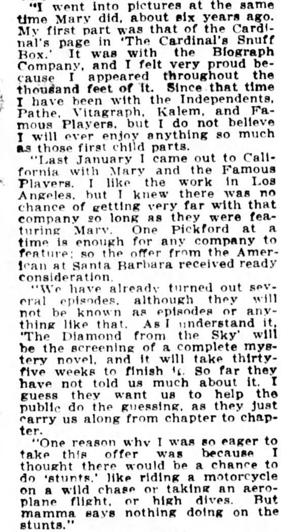 Conclusion from The Washington Times, May 5, 1915, page 7.