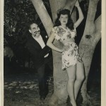 Groucho Marx and Fay McKenzie 1940s CBS Radio Press Photo