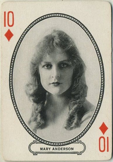 Mary Anderson 1916 MJ Moriarty Playing Card