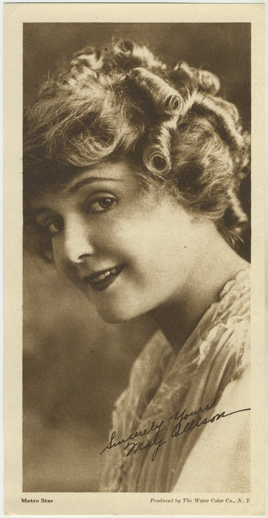 May Allison 1916 Water Color Co Premium Photo