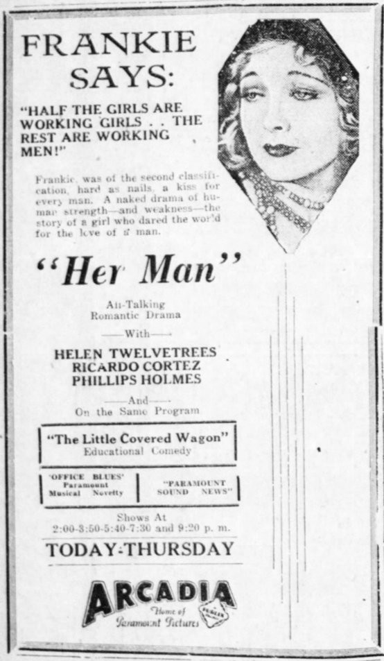 Source: The Valley Morning Star of Harlingen, TX, December 3, 1930, page 8.