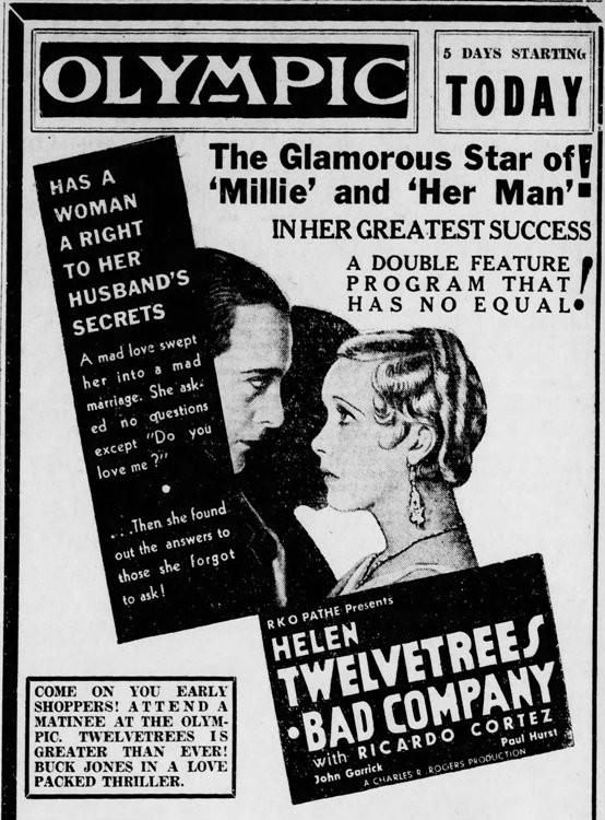 Source: The Altoona Tribune of Altoona, PA, December 19, 1931, page 11.