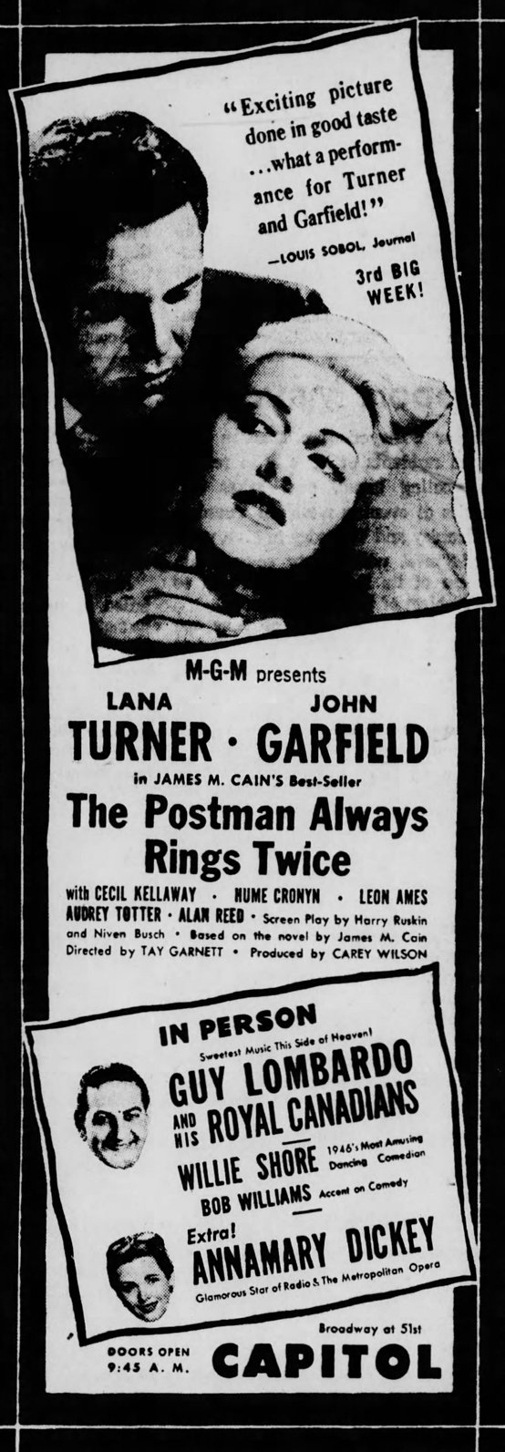 Source: Brooklyn Daily Eagle of Brooklyn, NY, May 15, 1946, page 11.